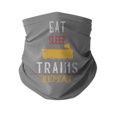 Eat Sleep Trains Repeat Neck Gaiter