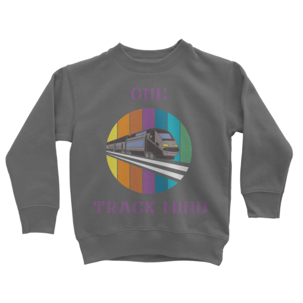 Kids Train Sweatshirt Tops